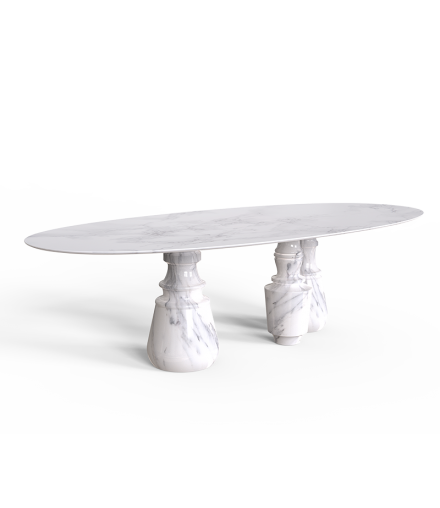 PIETRA OVAL XL DINING TABLE